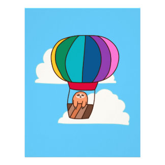 Hot Air Balloon Sloth Letterhead