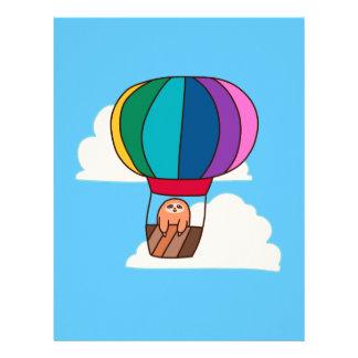Hot Air Balloon Sloth Letterhead