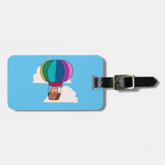 Hot Air Balloon Sloth Luggage Tag