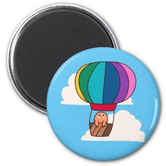 Hot Air Balloon Sloth Magnet