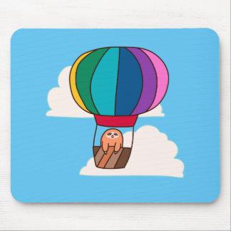 Hot Air Balloon Sloth Mouse Pad