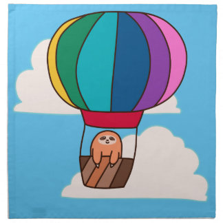 Hot Air Balloon Sloth Napkin
