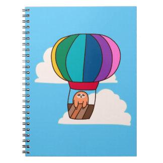 Hot Air Balloon Sloth Notebook