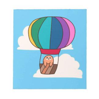 Hot Air Balloon Sloth Notepad
