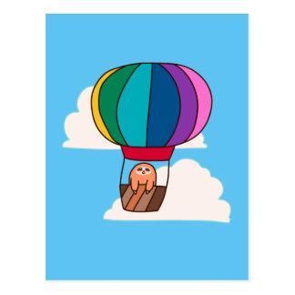 Hot Air Balloon Sloth Postcard