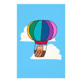 Hot Air Balloon Sloth Stationery