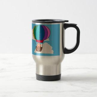 Hot Air Balloon Sloth Travel Mug