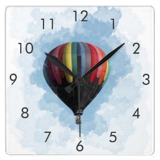 Hot Air Balloon Square Clock