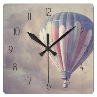 Hot Air Balloon Square Wall Clock