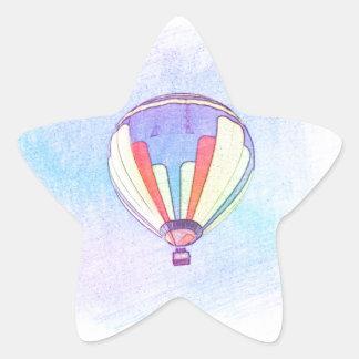 Hot Air Balloon Star Sticker