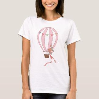 Hot Air Balloon T-shirt Cute Retro Pink Balloon