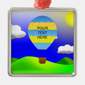 Hot Air Balloon Template Keepsake Metal Ornament