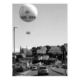 Hot Air Balloon , Torquay Postcard