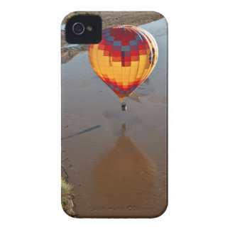 Hot Air Balloon Touching Rio Grande River iPhone 4 Covers