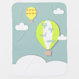 Hot Air Balloon, Up Up and Away Baby Blanket