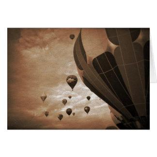 Hot Air Balloon Vintage Photograph Card
