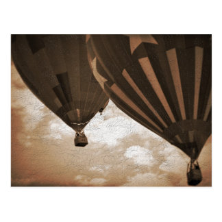 Hot Air Balloon Vintage Photograph Postcard