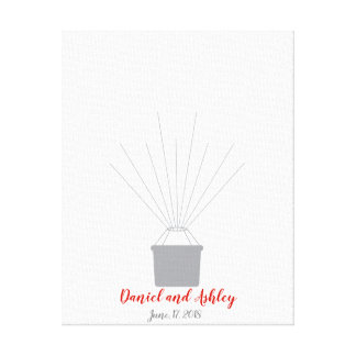 Hot Air Balloon Wedding Fingerprint Guest Book
