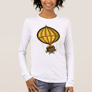 Hot Air Balloon Yellow and Red Long Sleeve T-Shirt