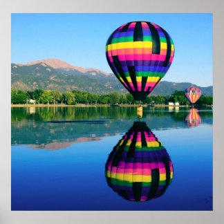 Hot Air Ballooning, Pikes Peak Mountain Poster