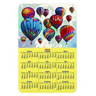 Hot Air Balloons 2012 Calendar Magnet