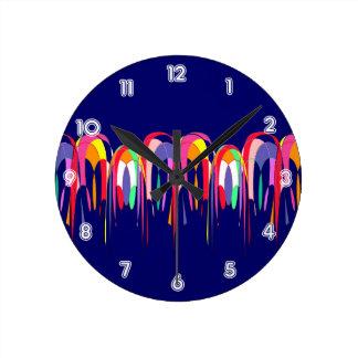 Hot Air Balloons Abstract Round Clock