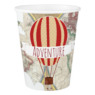 Hot Air Balloons Adventure Baby Shower Paper Cup