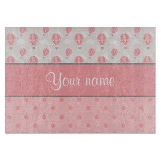 Hot Air Balloons and Polka Dots Personalized Boards