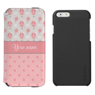 Hot Air Balloons and Polka Dots Personalized Incipio Watson™ iPhone 6 Wallet Case