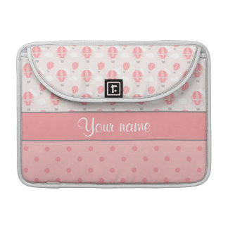 Hot Air Balloons and Polka Dots Personalized Sleeve For MacBooks