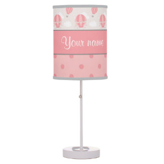 Hot Air Balloons and Polka Dots Personalized Table Lamp