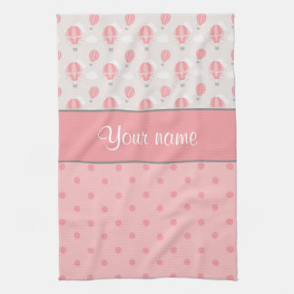 Hot Air Balloons and Polka Dots Personalized Towels