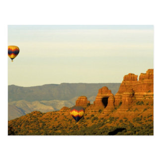 Hot Air Balloons at Sedona, Arizona, USA. Postcard