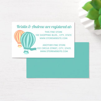 Hot Air Balloons Baby Shower Registry Business Card