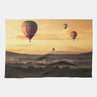 Hot Air Balloons Beautiful Nature Scenery Kitchen Towel
