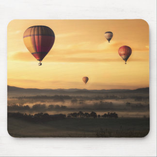 Hot Air Balloons Beautiful Nature Scenery Mouse Pad