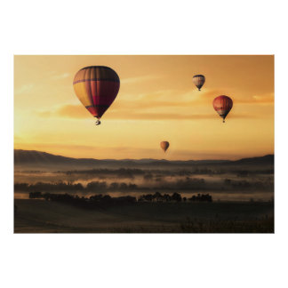 Hot Air Balloons Beautiful Nature Scenery Poster