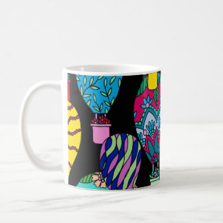 Hot Air Balloons Black Coffee Mug