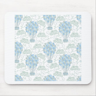 Hot air balloons blue nursery home decor wall art mouse pad