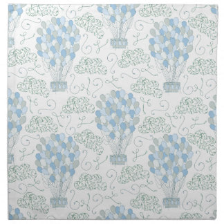 Hot air balloons blue nursery home decor wall art napkin