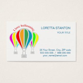 Hot air balloons business card