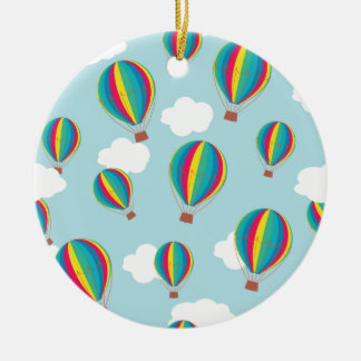 Hot air balloons ceramic ornament