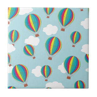 Hot air balloons ceramic tile