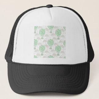 Hot air balloons green nursery decor art trucker hat
