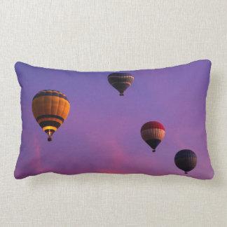 Hot Air Balloons in Flight Lumbar Pillow