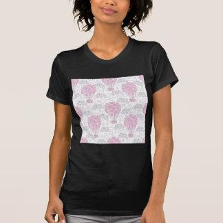 Hot air balloons in pink nursery art T-Shirt