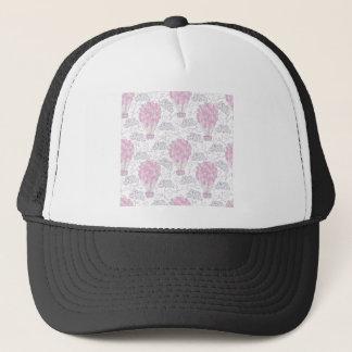 Hot air balloons in pink nursery art trucker hat