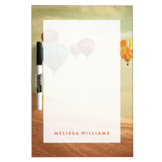 Hot Air Balloons In The Sky Dry Erase Board