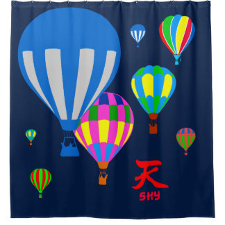 Hot Air Balloons in the sky - Sky - on blue
