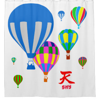 Hot Air Balloons in the sky - Sky - on white